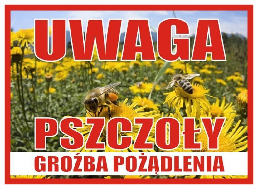 Tablica uwaga pszczoły